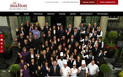 Screenshot of Team Page themalton.com - The Malton team Killarney | Luxury Hotel in Kerry|Hotels in Killarney - captured Sept. 24, 2014
