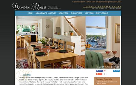 Screenshot of Home Page camdencottage.com - Camden Maine vacation rental houses with harbor views, Camden ME - captured Oct. 31, 2018