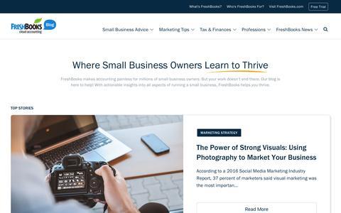 Screenshot of Blog freshbooks.com - Small Business Blog, Tips, News, Advice | FreshBooks - captured June 7, 2017