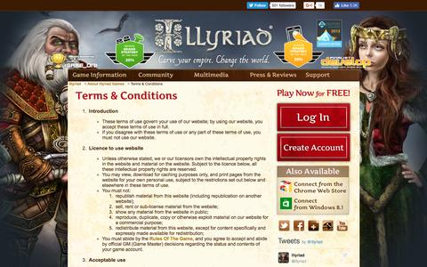 Screenshot of Terms Page illyriad.co.uk - Terms & Conditions - captured Nov. 18, 2016