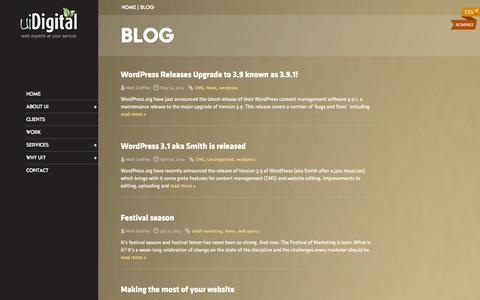 Screenshot of Blog uidigital.com - Wordpress Website Design and Marketing Blog - captured Sept. 23, 2014
