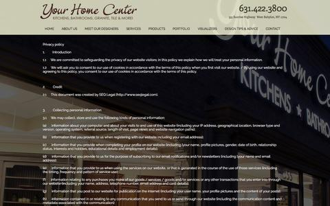 Screenshot of Privacy Page yourhomecenter.net - Contact Us | Your Home Center - captured May 26, 2017