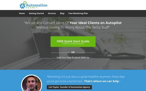 Screenshot of Home Page automationagency.com - Automation Agency - Digital Marketing Agency - captured Sept. 30, 2014