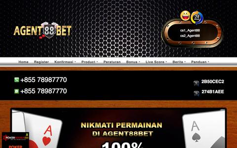 Screenshot of Home Page agent88bet.net - Agen Judi Online, Agen Bola, Agen Casino Sbobet, Agen Ibcbet - captured Aug. 29, 2015