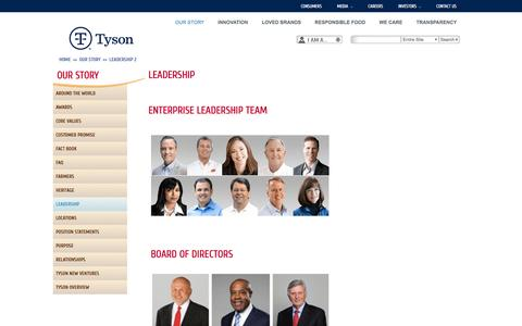 Tyson Foods: Leadership 2