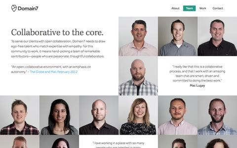 Screenshot of Team Page domain7.com - Team -  Domain7, A Digital Transformation Agency | Vancouver, Abbotsford, Seattle - captured Jan. 16, 2016