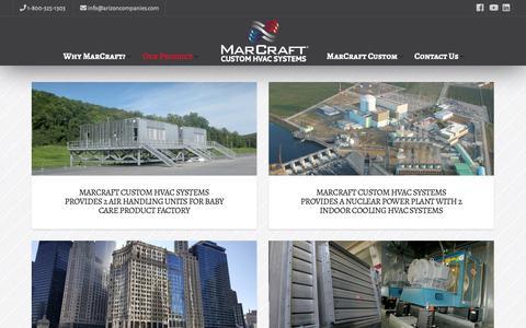 Screenshot of Case Studies Page marcrafthvac.com - Case Studies | MarCraft Custom HVAC Systems - captured Oct. 22, 2018