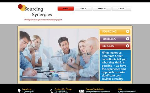 Screenshot of Home Page sourcing-synergies.com - Sourcing Synergies - Optimize procurement and improve your bottom line - captured Sept. 30, 2014