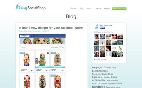 Screenshot of Blog easysocialshop.com - Blog | Easy Social Shop - captured July 19, 2014