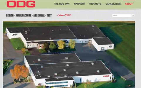 Screenshot of About Page odg.com - About | Ontario Drive & Gear - captured Oct. 6, 2014
