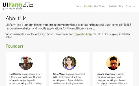 Screenshot of About Page uifarm.co.uk - About Us | UI Farm - captured Oct. 3, 2014