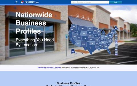 Screenshot of Home Page lookupbook.com - Lookupbook - captured Jan. 22, 2015