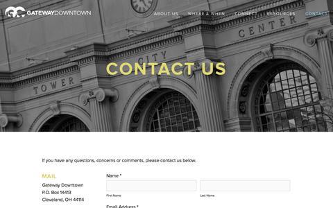 Screenshot of Contact Page gatewaydowntown.com - Contact — Gateway Downtown Church - captured Nov. 1, 2014