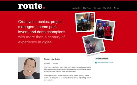 Screenshot of Team Page routedigital.com - The Team - captured Sept. 30, 2014