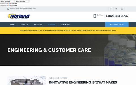 Screenshot of Services Page norlandintl.com - Services – Norland International, Inc. - captured Nov. 30, 2016