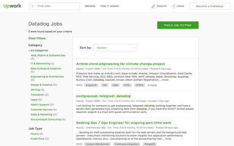 Freelance Datadog Jobs Online - Upwork