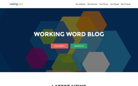 Screenshot of Blog workingwordpr.com - Working WordPR Blog - captured Feb. 15, 2016