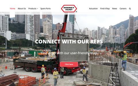 Screenshot of Home Page rodneyhunt.com - Home - Rodney Hunt - captured Oct. 18, 2018