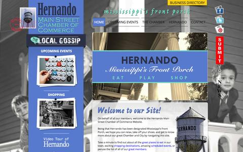 Screenshot of Home Page hernandoms.org - Hernando Chamber of Commerce - captured Oct. 3, 2014
