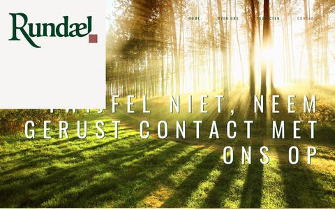 Screenshot of Contact Page rundael.nl - CONTACT || Rundael | Projectontwikkeling | de binnenstad buiten - captured Oct. 23, 2017