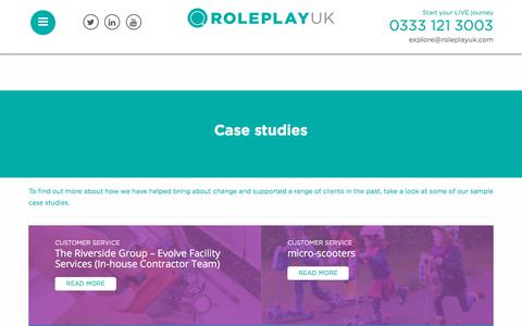 Screenshot of Case Studies Page roleplayuk.com - Case studies | Roleplay UK - captured Oct. 23, 2017