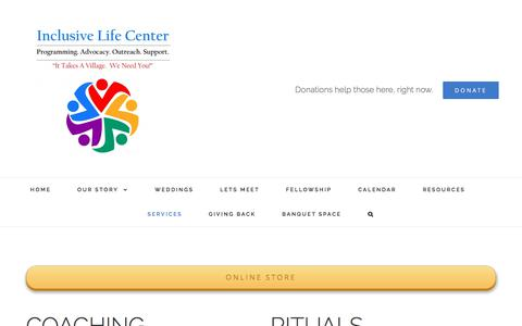 Screenshot of Services Page inclusivelife.org - SERVICES | Inclusive Life Center & Chapel - captured June 7, 2017