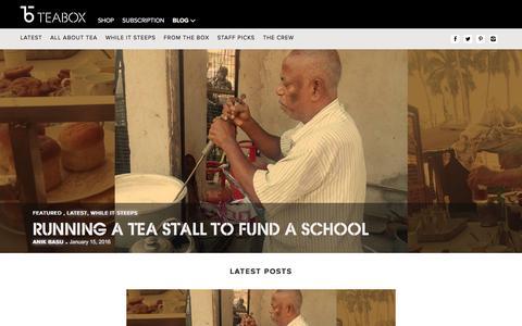 Screenshot of Blog teabox.com - Tea Stories   Best Tea Blog   Still Steeping - The Teabox Blog - captured Jan. 16, 2016
