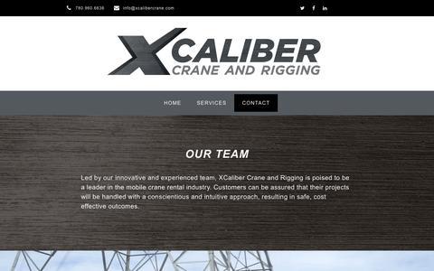Screenshot of Contact Page xcalibercrane.com - Contact – Xcaliber Crane and Rigging - captured June 18, 2019