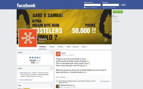 Screenshot of Facebook Page facebook.com - Zostel - Jodhpur City, Rajasthan, India - Hostel | Facebook - captured Oct. 22, 2014