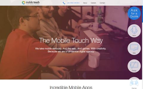 Screenshot of Home Page mobiletouch.eu - Mobile Touch - App, Web and Games Development - captured Jan. 10, 2016
