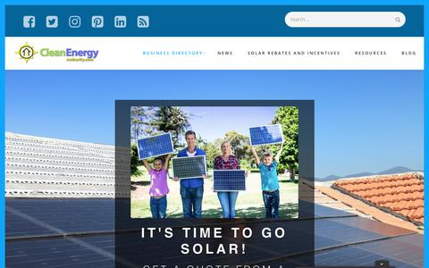 Screenshot of Home Page cleanenergyauthority.com - Solar Energy Installers | Solar Power - Clean Energy Authority - captured Sept. 23, 2018