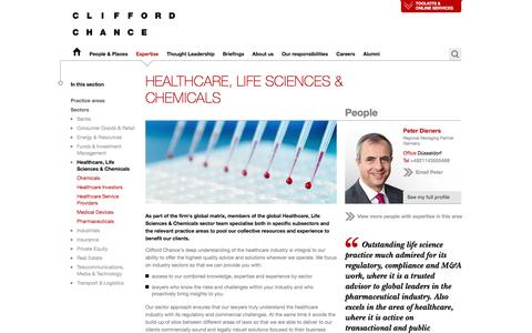 Clifford Chance | Healthcare, Life Sciences & Chemicals