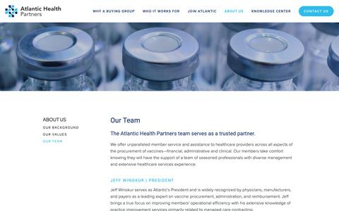 Screenshot of Team Page atlantichealthpartners.com - Our Team — Atlantic Health Partners - captured Feb. 17, 2019