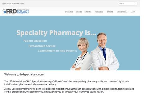 Screenshot of Home Page frdspecialtyrx.com - FRD Specialty Pharmacy | Los Angeles | California - captured Nov. 24, 2016