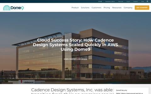 Screenshot of Case Studies Page dome9.com - Dome9 Security says… - captured July 10, 2018