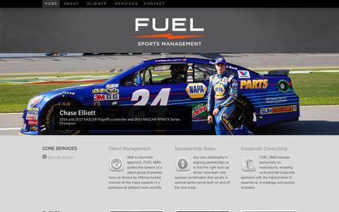 Screenshot of Home Page fuelsmg.com - FUEL SMG - FUEL Sports Management Group - captured Nov. 14, 2018