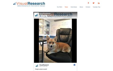 Screenshot of Press Page vis-res.com - vis-res-site   News - captured Oct. 18, 2018