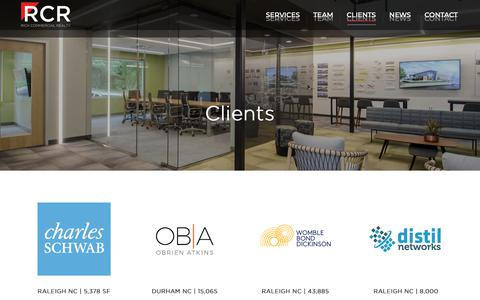 Screenshot of Case Studies Page richcommercialrealty.com - Clients – Rich Commercial Realty - captured Oct. 18, 2018