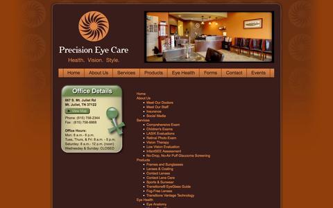 Screenshot of Site Map Page precision-eye.com - precision-eye.com - captured Oct. 2, 2014