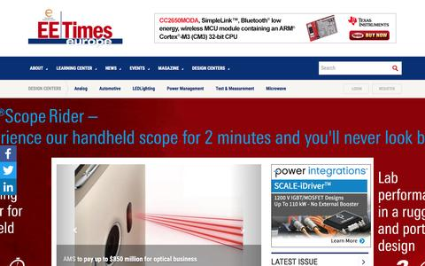 Screenshot of Home Page electronics-eetimes.com - Electronic Engineering Times Europe : Industry News, Learning center, electronic design center - Electronics Eetimes - captured Nov. 19, 2016