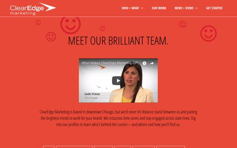 Screenshot of Team Page clearedgemarketing.com - ClearEdge Marketing Team | Powered by Brilliance - captured July 18, 2018