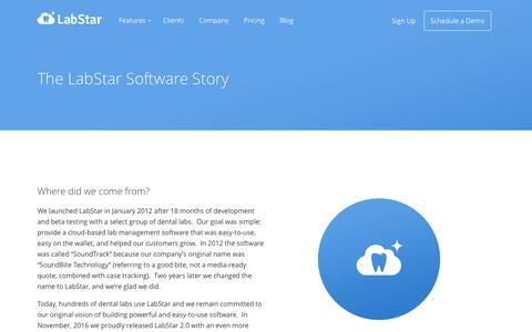 Screenshot of About Page labstar.com - Company | LabStar - captured Dec. 14, 2016