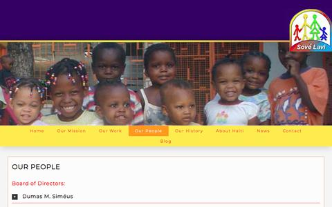 Screenshot of Team Page sovelavi.org - Our People - Organisation Sové Lavi (Saving Lives) - captured June 30, 2018