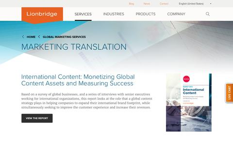 Professional Marketing Translation Services | Lionbridge
