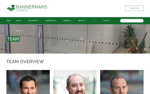 Screenshot of Team Page bannermans.com.au - Bannermans Lawyers  - Team - captured Oct. 5, 2018