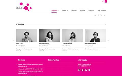 Screenshot of Team Page ideialab.biz - IdeiaLab - captured Nov. 18, 2016