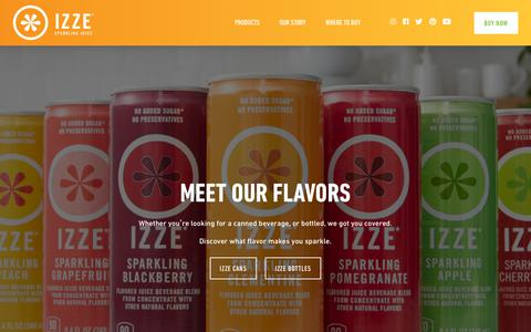 Screenshot of Products Page izze.com - All               – IZZE - captured Sept. 23, 2018