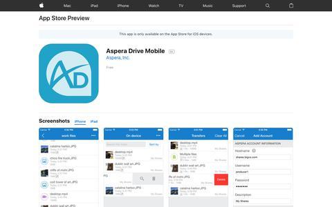 Aspera Drive Mobile on the AppStore