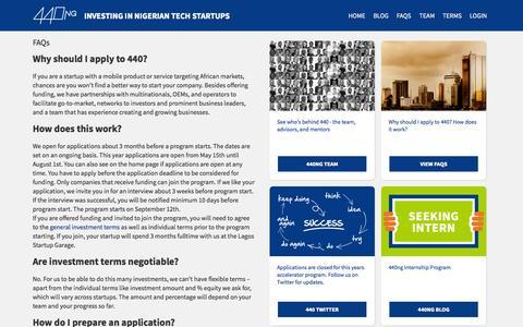 Screenshot of FAQ Page 440.ng - FAQs | 440 - captured Sept. 23, 2014