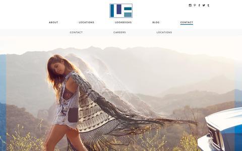 Screenshot of Contact Page lfstores.com - Contact   LF Stores - captured Oct. 25, 2015